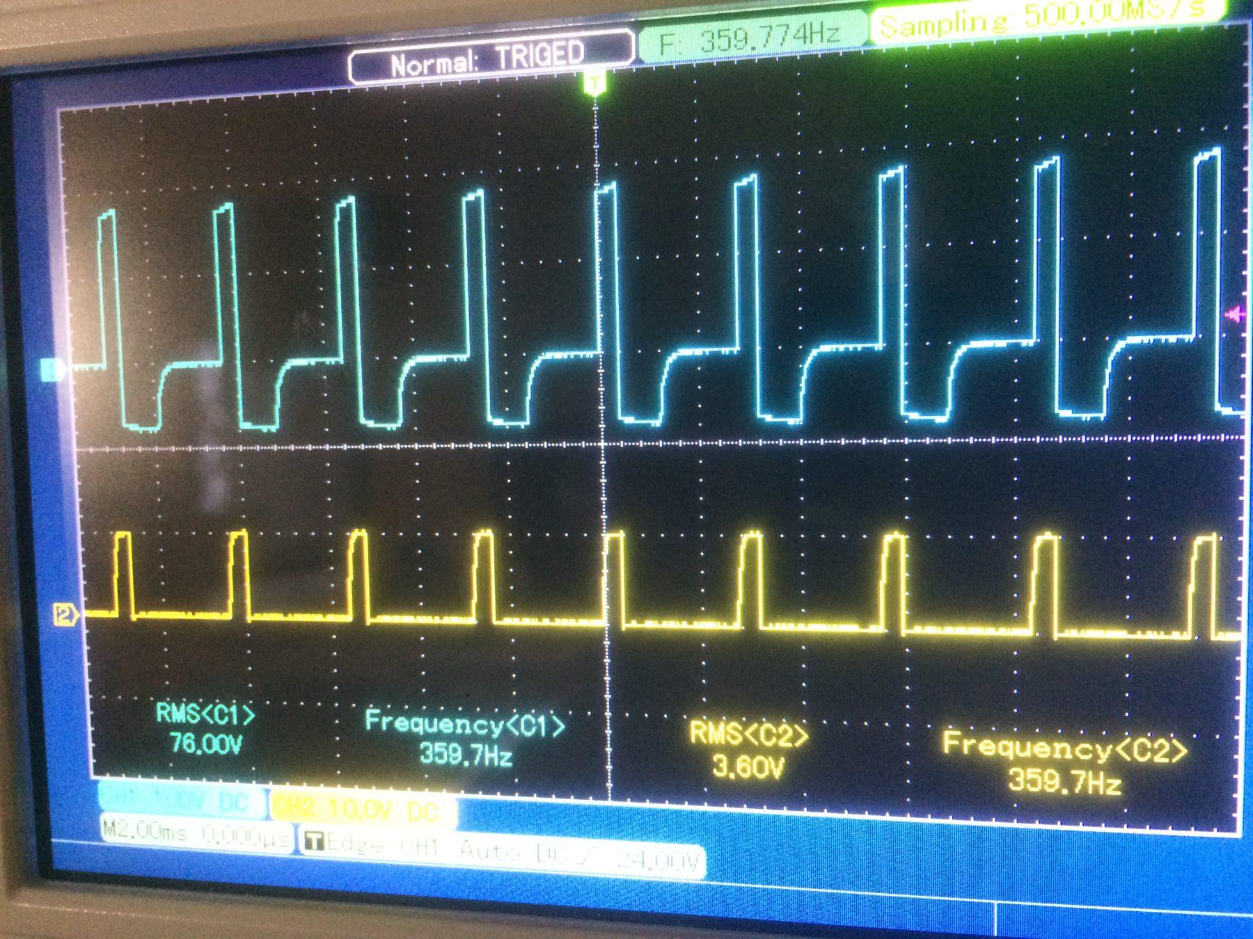 PWM Signal and Transformer Signal