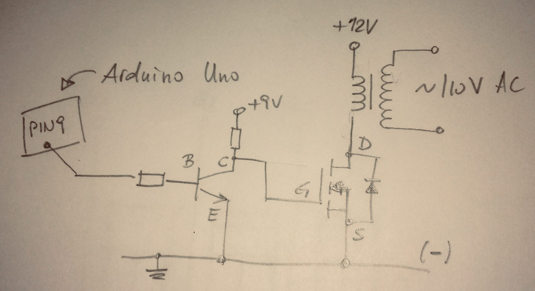 PWM circuit with Arduino Uno